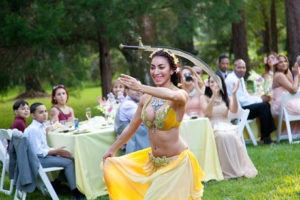 bellydancing for a wedding in winter park
